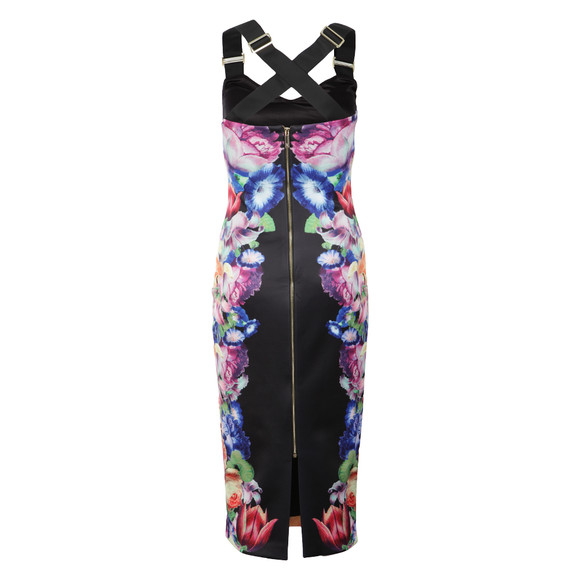 Ted Baker Womens Black Deony Tapestry Flora Buckle Dress main image