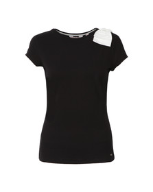 Ted Baker Womens Black Tuline Bow Shoulder Tee
