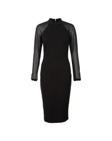 Ted Baker Womens Black Wrenti Fitted Long Sleeve Rib Dress