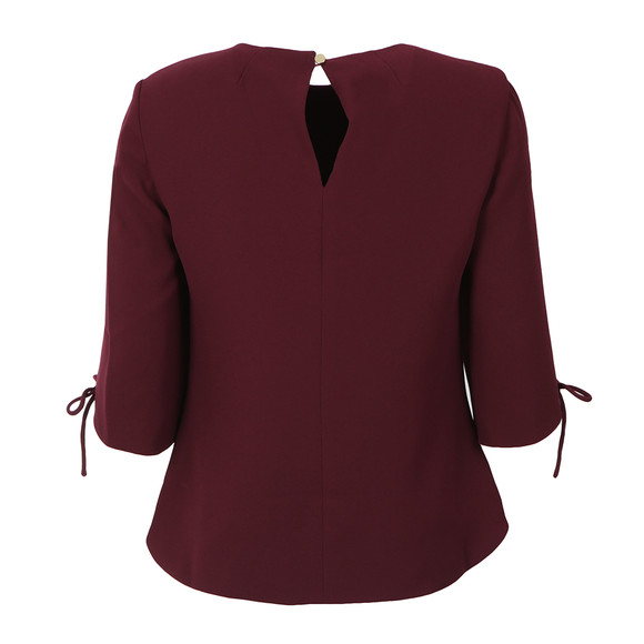 Ted Baker Womens Red Hattsy Bow Detail Sleeved Top main image