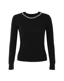 Ted Baker Womens Black Ariya Embellished Long Sleeve Jumper