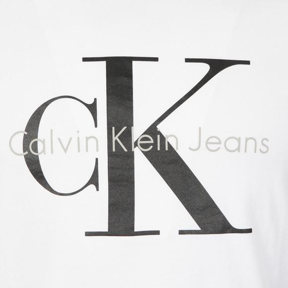 Calvin Klein Mens White S/S Logo Tee main image