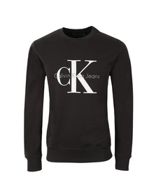 Calvin Klein Mens Grey Logo Crew Neck Sweat