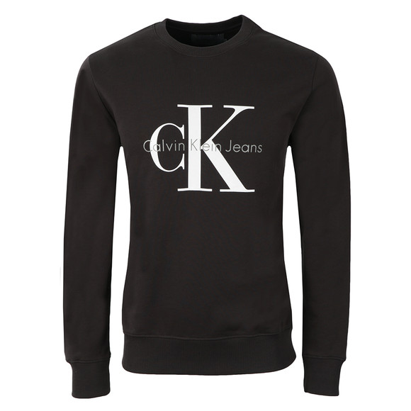 Calvin Klein Jeans Mens Grey Logo Crew Neck Sweat main image
