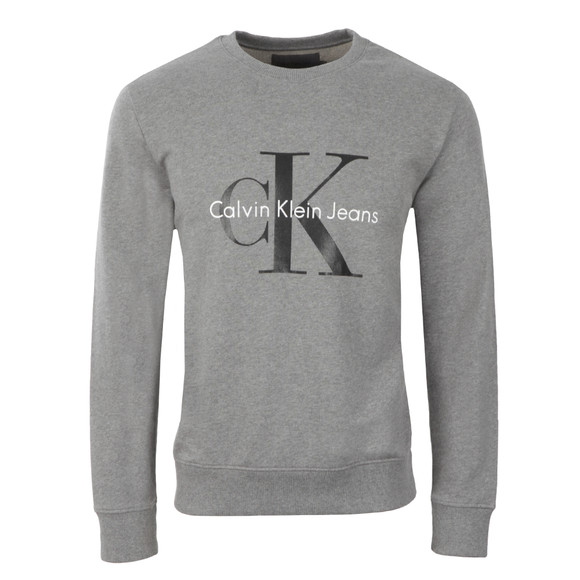 Calvin Klein Mens Grey Logo Crew Neck Sweat main image