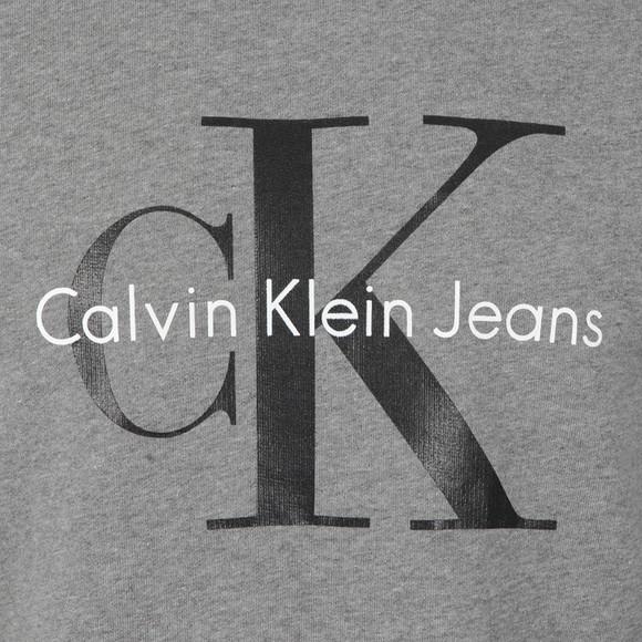 Calvin Klein Jeans Mens Grey Logo Crew Neck Sweat main image