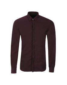 Fred Perry Mens Brown L/S Oxford Shirt