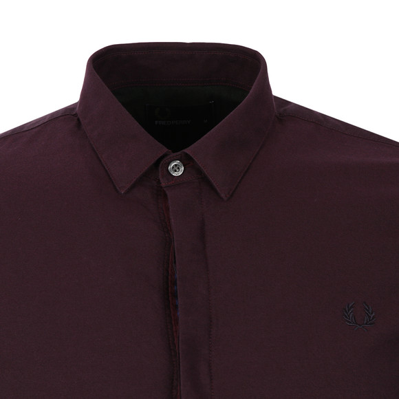 Fred Perry Mens Brown L/S Oxford Shirt main image