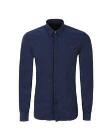 Fred Perry Mens Blue L/S Oxford Shirt