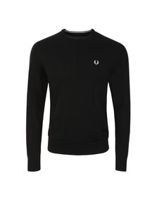 Fred Perry Mens Black Crew Neck Jumper