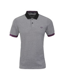 Fred Perry Mens Black S/S Block Pique Polo