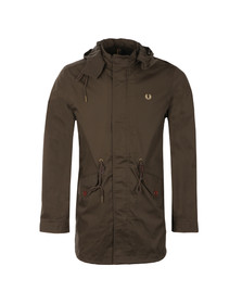 Fred Perry Mens Brown Fishtail Parka