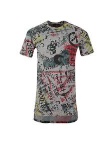 Vivienne Westwood Anglomania Mens Grey Newspaper Rubbish T Shirt