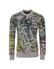 Vivienne Westwood Anglomania Mens Grey Newspaper Rubbish Sweatshirt