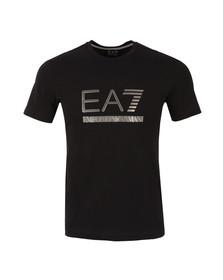EA7 Emporio Armani Mens Black Large Antique Logo T Shirt