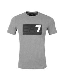 EA7 Emporio Armani Mens Grey Embossed Logo T Shirt