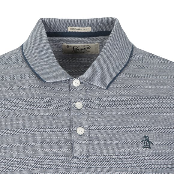 Original Penguin Mens Blue Allover Novelty Polo Shirt main image