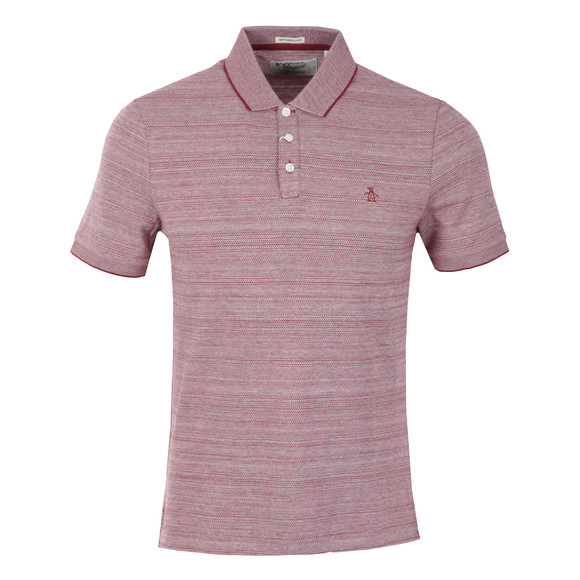 Original Penguin Mens Red Allover Novelty Polo Shirt main image