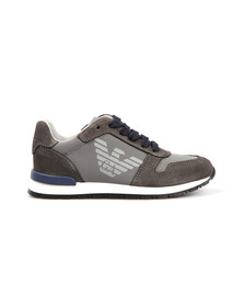 Armani Junior  Boys Grey Logo Runner Trainer