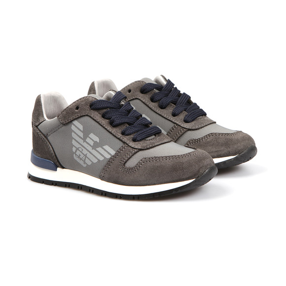 Armani Junior  Boys Grey Logo Runner Trainer main image