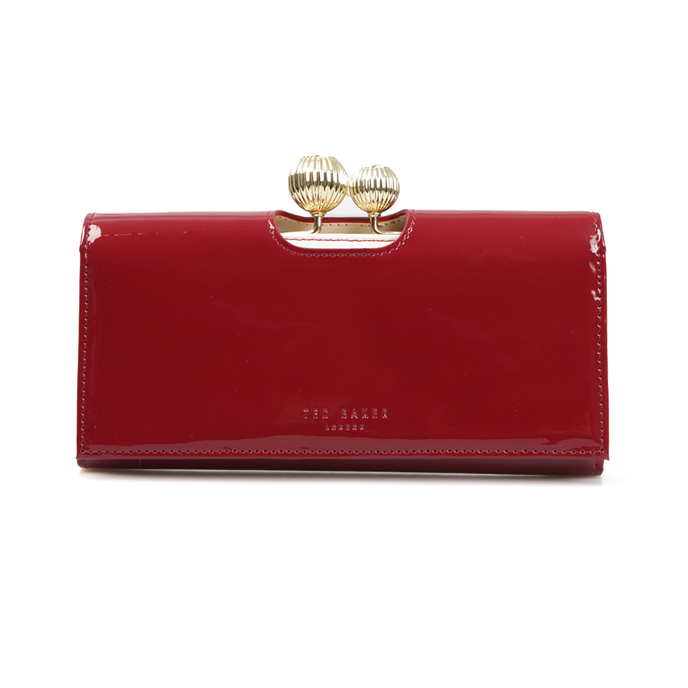 6bc0342e718fe3 Ted Baker Womens Red Kimmiko Etched Bobble Patent Matinee Purse main image.  Loading zoom · Ted Baker Womens Red ...