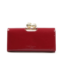 Ted Baker Womens Red Kimmiko Etched Bobble Patent Matinee Purse