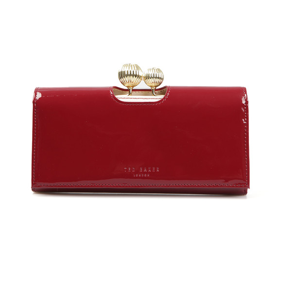 Ted Baker Womens Red Kimmiko Etched Bobble Patent Matinee Purse main image