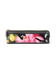 Ted Baker Womens Black Kelsee Citrus Bloom Pencil Case