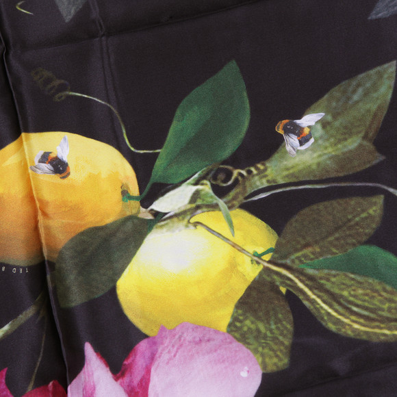 Ted Baker Womens Black Catori Citrus Bloom Long Scarf main image