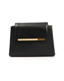 Ted Baker Womens Black Fae Folded Edge Mini Crossbody Bag