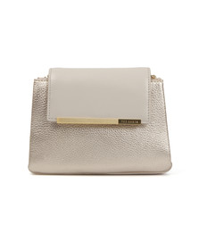 Ted Baker Womens Grey Fae Folded Edge Mini Crossbody Bag