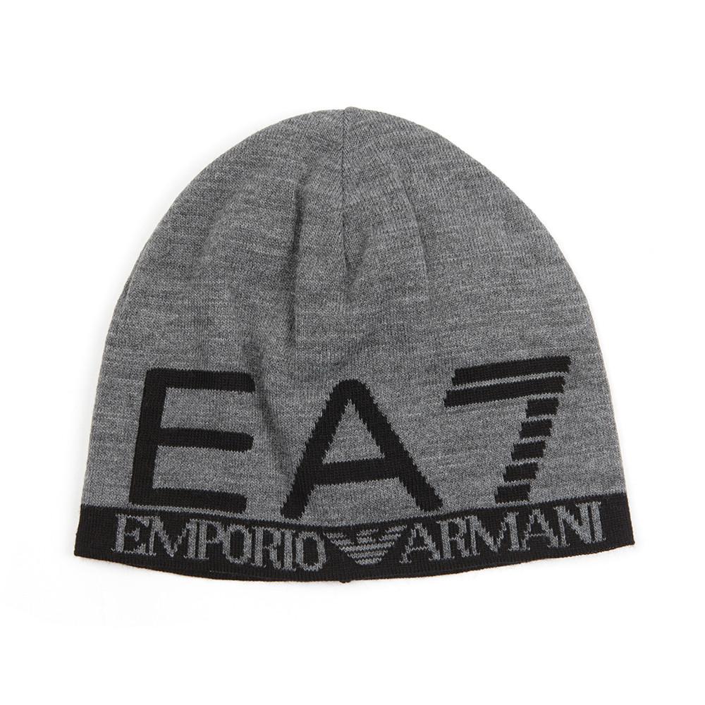 EA7 Emporio Armani Mens Grey Train Visibility Beanie bc47e67dcce