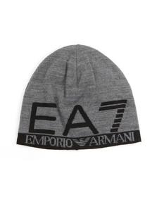EA7 Emporio Armani Mens Grey Train Visibility Beanie