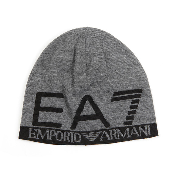 EA7 Emporio Armani Mens Grey Train Visibility Beanie main image 50403046316
