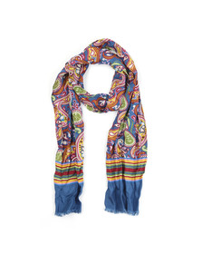 Pretty Green Mens Multicoloured Vintage Paisley Scarf