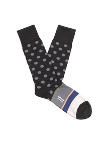 Paul Smith Mens Black Pocco Sock