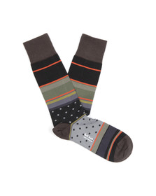 Paul Smith Mens Black City Stripe Sock
