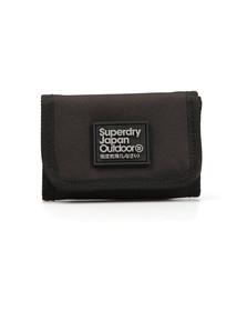 Superdry Mens Black Bi Fold Montana Wallet