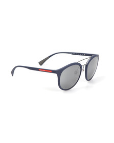 Prada Linea Rossa Mens Blue 04RS Rounded Sunglasses