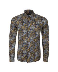 Pretty Green Mens Blue Stretford AOP Shirt