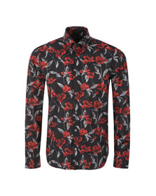 Pretty Green (Black Label) Mens Black Prubella Printed Shirt