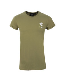 Gym king Mens Green Cap Sleeve Tee