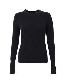 Superdry Womens Blue Luxe Mini Cable Knit
