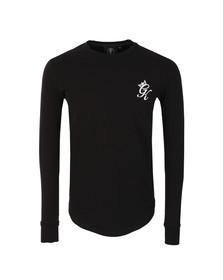 Gym king Mens Black Long Sleeve Undergarment Tee
