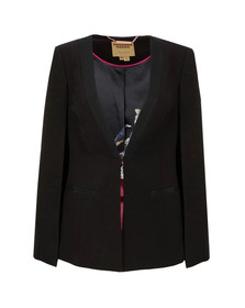 Ted Baker Womens Black Maggyy Ottoman Cape Blazer