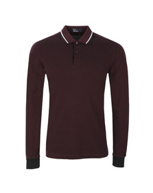 Fred Perry Mens Purple L/S Tipped Polo