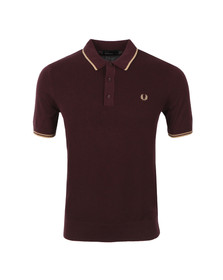 Fred Perry Mens Red S/S Knitted Polo