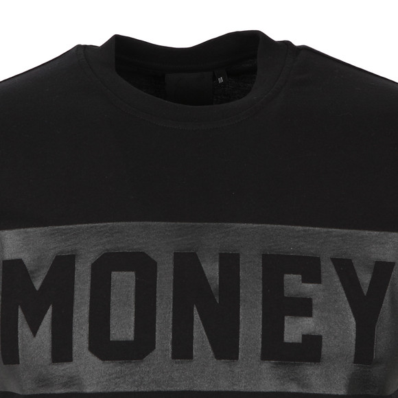 Money Mens Black Punch Out T Shirt main image