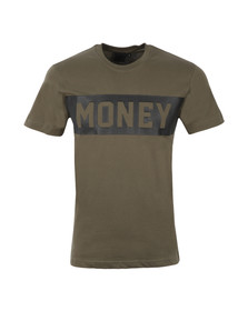 Money Mens Green Punch Out T Shirt