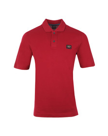 Paul & Shark Mens Red Plain Polo Shirt